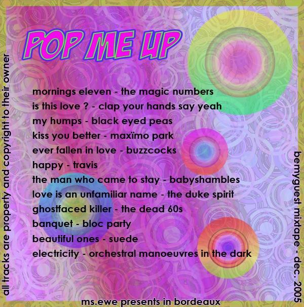 Pop Me Up - Tracks Listing