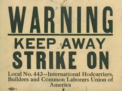 Strike-sign